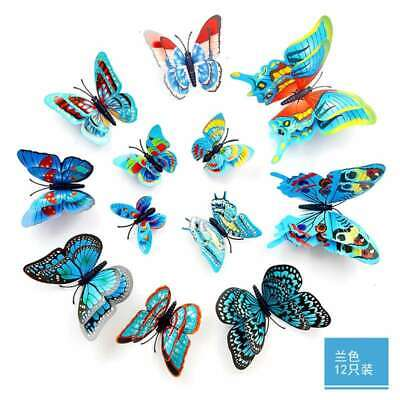 AU0.97 • Buy 12pcs 3D Color Wall Sticker Modern Animal Butterfly Stickers For Room Home Decor