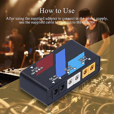 $ CDN41.67 • Buy Professional Pedal Power Supply Guitar Effect Board Short Circuit Protection 18W