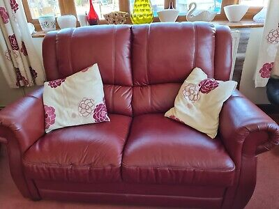 Leather 3 Piece Suite With Recliner Chair. • 70£