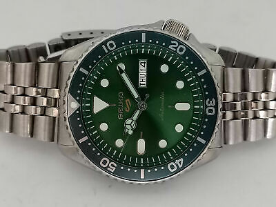 $ CDN36.30 • Buy Seiko Diver 7s26-0020 Skx007 Green Sports Series Mod Automatic Watch Sn. 245408