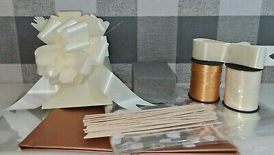 Rose Gold Make Your Own DIY Chocolate Bouquet Kit Cellophane Bow Box Oasis Stick • 9.95£