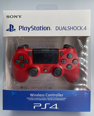 RED Sony PS4 Dualshock 4 Controller , V2 Brand New & Sealed • 22£