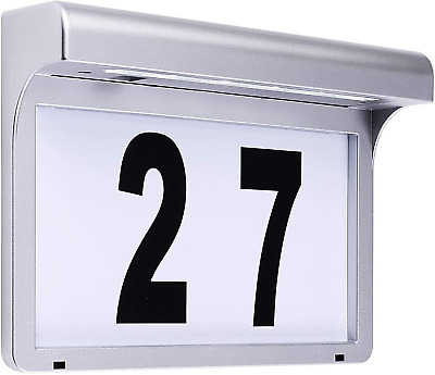 £28.48 • Buy LED House Number Plaques Address Signs Light Solar Illuminated Name