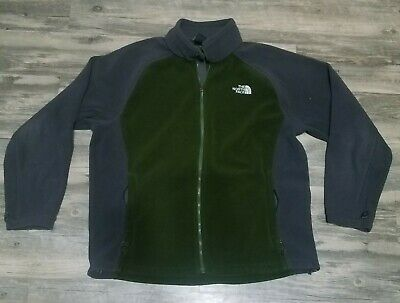 £21.39 • Buy The North Face Fleece Jacket Green Gray Base Layer Zip Up Mens Size XL