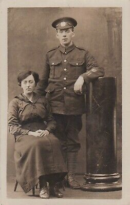 WW1 Photo, Private Lewis Gunner Highland Light Infantry, Two Wound Stripes. • 7£