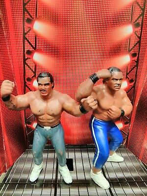 $ CDN69.09 • Buy WCW Galoob Butch Reed & Ron Simmons. ( White Stripe ) UK Exclusive Figures 1990