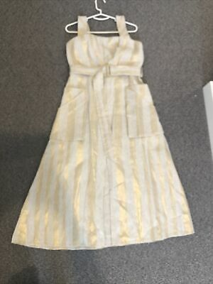 AU140 • Buy Sass And Bide Gold Linen Dress Size 12 New With Tags
