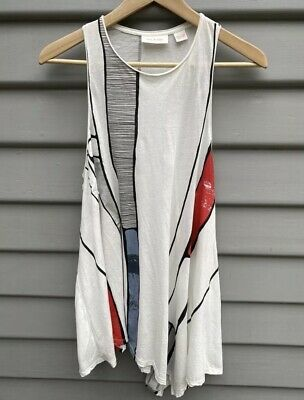 AU20 • Buy Sass And Bide Palais Grande Racer Back Asymmetrical Tank Top XS EUC