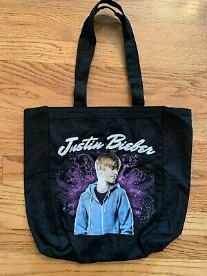 £6.34 • Buy  Young Justin Bieber Tote Bag 15  X 15  Never Say Never 2011