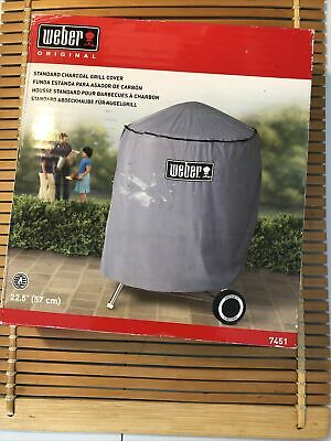 $ CDN18.79 • Buy Weber Charcoal Grill Cover 7451 Standard Kettle 22.5  (57cm) Gray 34 X30