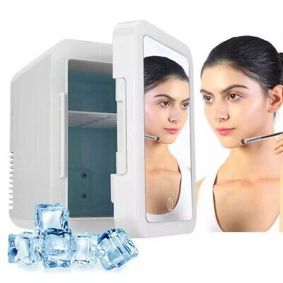 AU88 • Buy Cosmetics Skincare Fridge Storage Portable 8L LED Mirror Door Makeup Cooler