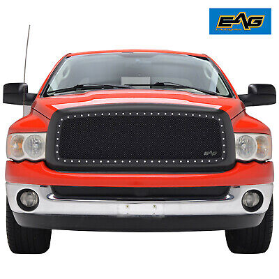 $209.99 • Buy EAG Fits 02-05 Dodge Ram 1500/ 2500/ 3500Chrome Rivet Mesh Replacement Grille