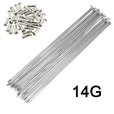 £5.34 • Buy 10 X 14G Bicycle Spokes With Nipples Stainless Steel MTB Road Bike High Strength