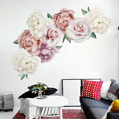 £5.66 • Buy Beautiful Peony 3D Flower Wall Stickers  Background Home Decor Room Wall Sticker