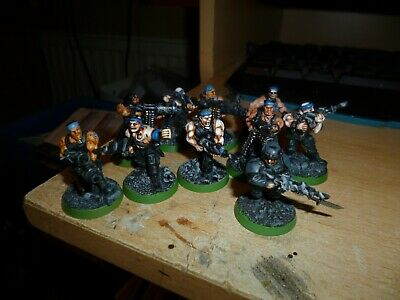 £7 • Buy Wh40k Cultists (Imp Grd) For Genestealer/Chaos Army Painted 10 Figures Plastic