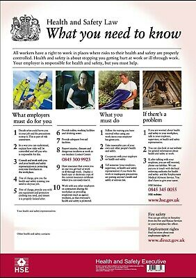 £8.99 • Buy HSE Health And Safety UK A3 Poster
