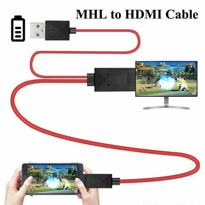 AU12.61 • Buy MHL 11Pin Micro USB To HDMI 1080P HD TV Cable Adapter For Android Samsung Phone