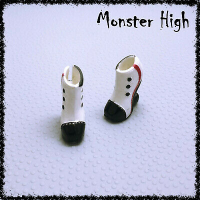 MONSTER HIGH Doll Shoes, Operetta, Picture Day, White & Black • 3.50£