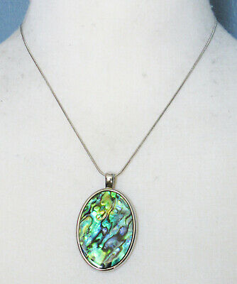 $ CDN2.57 • Buy Lia Sophia Jewelry Turnover MOP AND Abalone Reversible Necklace In Silver RV$50