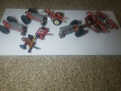 AU96.94 • Buy Three Hubley Farm Tractors/Implements By Tru-Scale And Arcade/2 Cast Iron