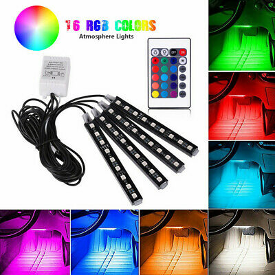 $13.99 • Buy Car Parts RGB LED Light Dash Floor Foot Strip Lights Decorative Lamp With Remote