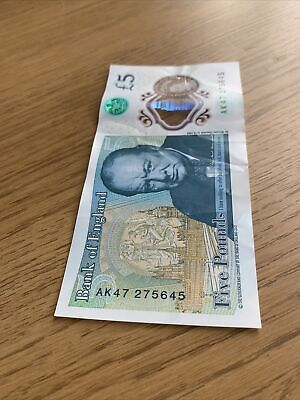 Serial AK47  Bank Of England Polymer £5 Five Pound Note Genuine New X1 • 8.99£
