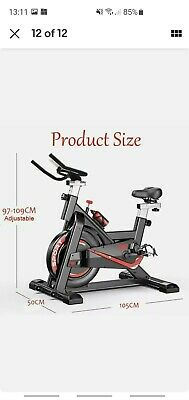 Exercise Spin Bike Home Gym Bicycle Cycling Cardio Fitness Training Workout Bike • 47£