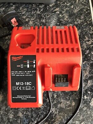 Milwaukee M12-18FC 18v Rapid Fast Battery Charger • 20£