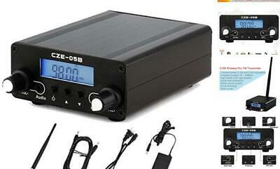 $129.52 • Buy FM Transmitter,PLL FM Long Range 0.5W Stereo Broadcast With LCD Screen Antenna