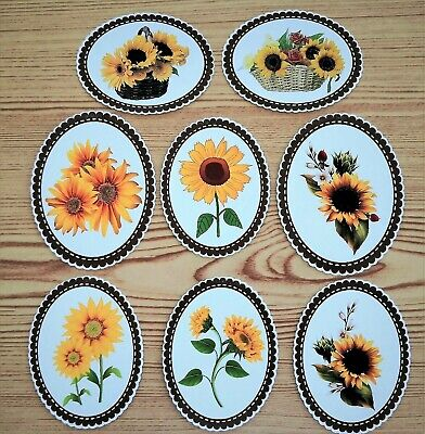Sunflowers Selection Card Making Toppers Die Cuts - 9 Pieces Embellishments • 3.50£