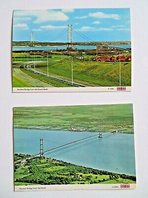 £2.99 • Buy Reduced. 2 Postcards Of The Humber Bridge From The 1980's
