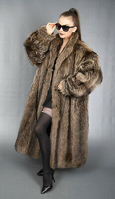 AU73.47 • Buy 8305 Wonderful Yves Saint Laurent Raccoon Coat Very Long Beautiful Look Size 3xl