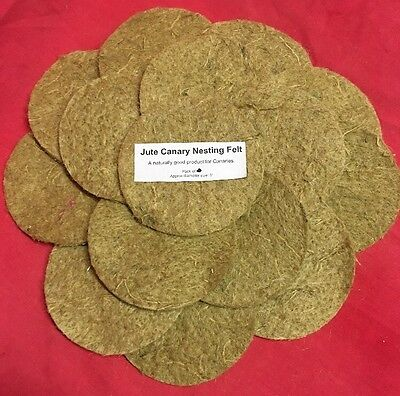 £13.99 • Buy Canary Nesting Pan Jute Felts X 20 Finches Canaries Linnet Breeding 5 Inch Round