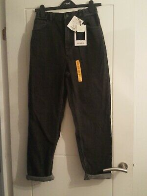 £15 • Buy Pull And Bear Dark Grey Washed  Mom Jeans Size 8 BNWT