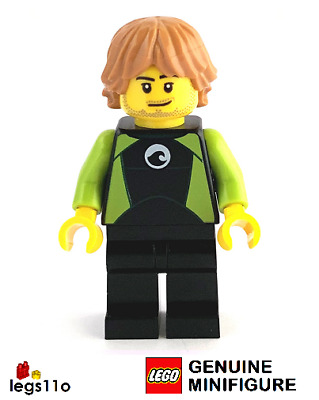 LEGO City Male Surfer In Wet Suit Minifigure 2020 NEW • 3.97£