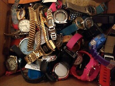$ CDN32.58 • Buy Huge Lot Of Vtg To Now Watches Parts Junk Steampunk Art Bands Ect,