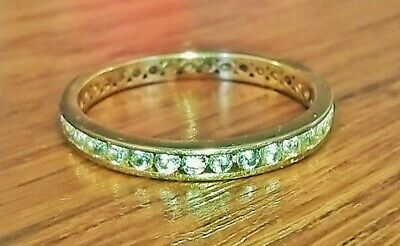 AU140 • Buy 9ct Yellow Gold Cubic Zirconia Eternity Ring- Size N 1/2