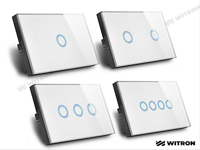 AU58.95 • Buy Touch Wall Light Switch LED 1/2/3/4 Gang 1way Touch Glass Switch AU Certified