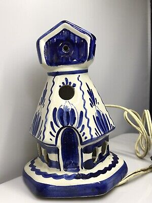 £3.99 • Buy Large Vintage DELFT Holland Windmill Lamp Light Ceramic Repair