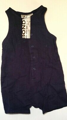 AU5 • Buy Bonds Baby Outerwear Navy Blue Overalls One Piece, Size 0 6-12 Months