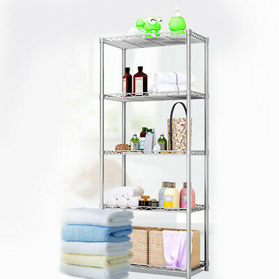 £35.99 • Buy 5 Tier Silver Metal Storage Rack/Shelving Wire Shelf Kitchen/Office Unit Stand