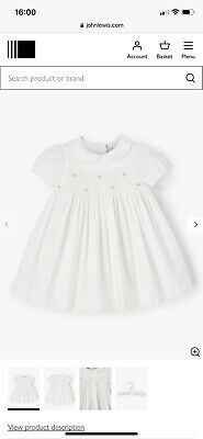 AU25.24 • Buy John Lewis & Partners Heirloom Collection Baby Cord Dress, White. Girls 3-6