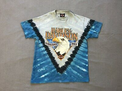 $ CDN94.80 • Buy Vintage 1991 Harley Davidson Tie-Dye Single Stitch T-Shirt Made In USA, Size L