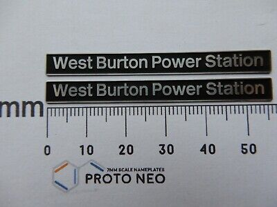 AU17.83 • Buy 56128 West Burton Power Station. O Gauge Etched 7mm Scale Names. Self Adhesive.