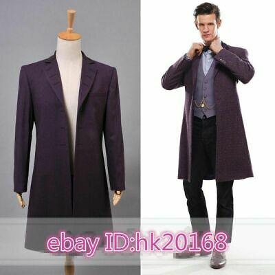 Doctor Who 11th Dr. Purple Long Coat Halloween Cosplay Costume Windbreaker • 35.02£