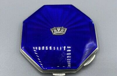 £259.99 • Buy Royal Navy Sweetheart Art Deco 1950 Solid Silver & Guilloche Enamel Compact 106g