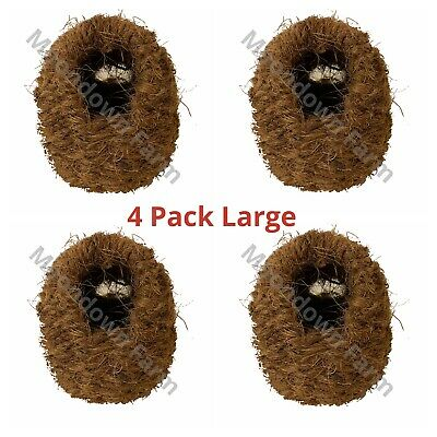 £10.99 • Buy 4 X Finch Nest Box Sisal Large With Hooks For Cage Hanging 15x11x11 Finches Etc