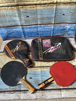 AU71.90 • Buy 2 Table Tennis Bats And Cases Dunlop Max Flash And Lion Brand Vintage Paddles