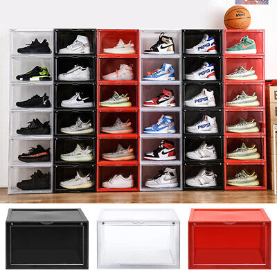 $18.50 • Buy Men Sneaker Plastic Shoe Box Shoes Stackable Magnetic Home Organizer Container