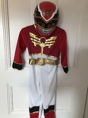 £34.95 • Buy Power Rangers Red Megaforce Fancy Dress Up Costume. Age 3-4 With Mask